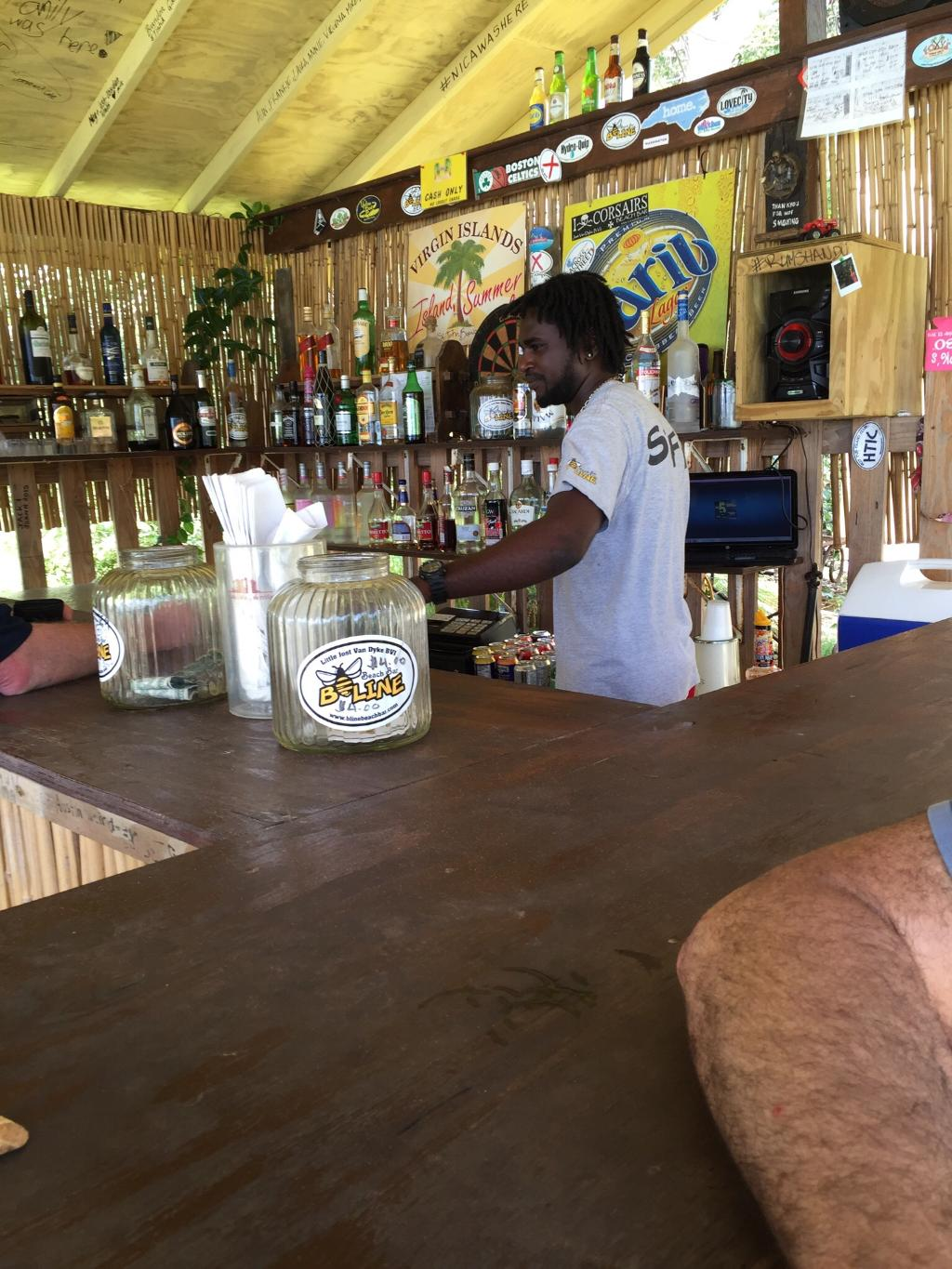 B-Line Bar in the BVI