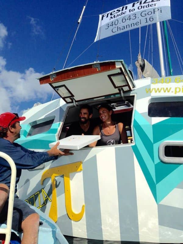 Pizza Pi, food boat, pizza boat, USVI, floating restaurant